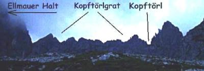 Kopftörl (Gruttenhütte - Stripsenjoch)
