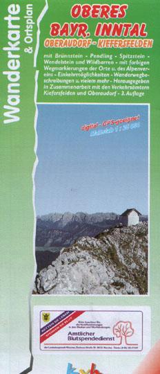 "Wanderkarte ""Oberes Bayr. Inntal"" Oberaudorf- Kiefersfelden"