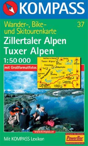 """Kompass Karte Nr. 37 """"Zillertaler Alpen, Tuxer Alpen"""""""