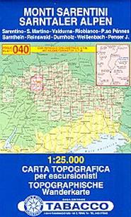 Tabacco Blatt 400: Sarntaler Alpen / Monti Sarentini. 1:25.000,