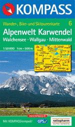 Wander-, Bike- und Skitourenkarte Alpenwelt Karwendel
