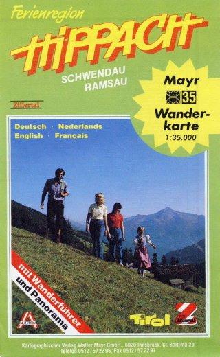 """Mayr Wanderkarte Nr. 35 """"Ferienregion Hippach, Schwendau, Ramsau"""""""