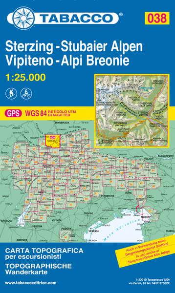 Tabacco Blatt 38: Sterzing - Stubaier Alpen