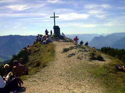 Der Geigelstein-Gipfel ist immer gut besucht!