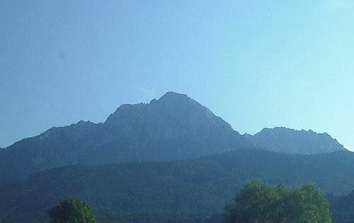 Hochstaufen vom Alpenvorland aus.