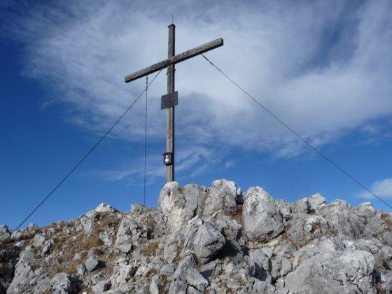 Am Gipfel des Scheffauer