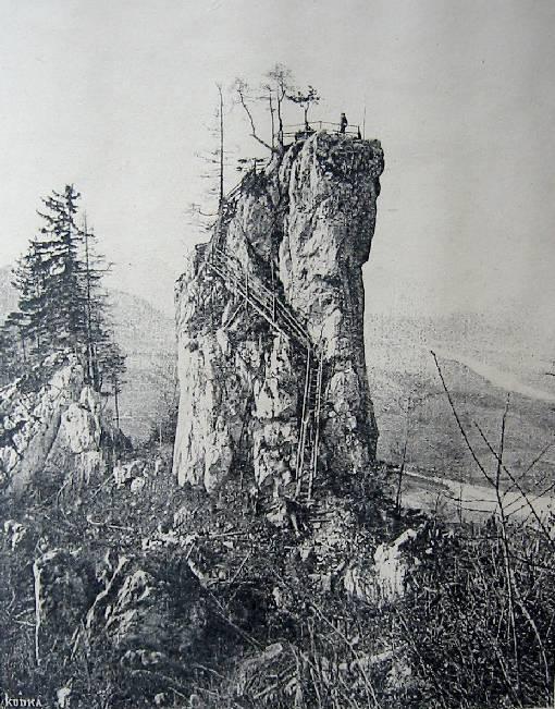 Die Teufelskanzel, wie sie vermutlich um 1890 aussah.