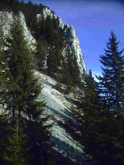 Die Südwand des Breitenstein
