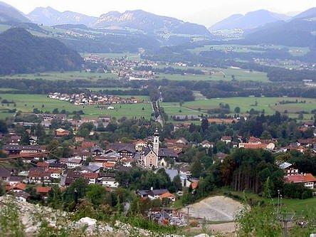 Blick von der Bergstation auf Oberaudorf