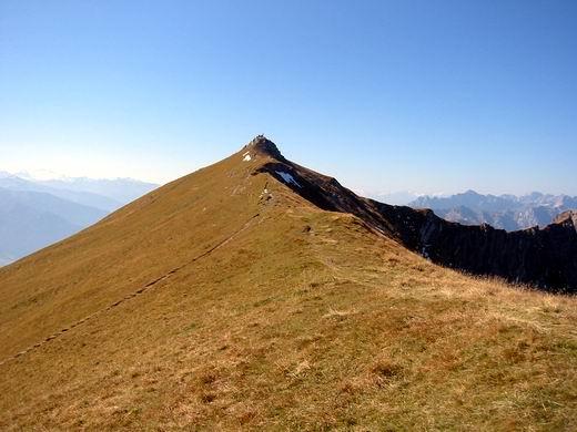 Der lange Ostgrat der Rofanspitze.