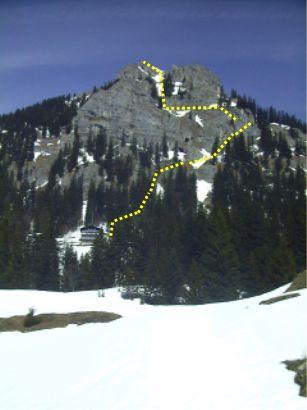 Der ungefähre Verlauf des Klettersteigs.