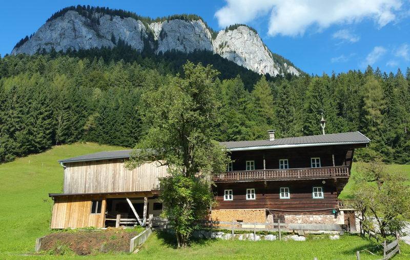 Einige Minuten vor dem höchsten Punkt der Tour: Bauernhof in Lengau, dahinter der Pölven