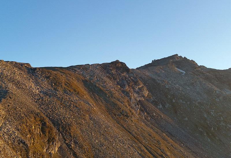 Der Kraxentrager (rechts) von der Europahütte