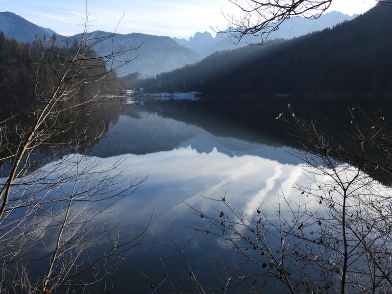 Der Hechtsee, im Hintergrund der Wilder Kaiser