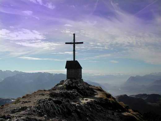Auf dem Geigelstein-Gipfel.