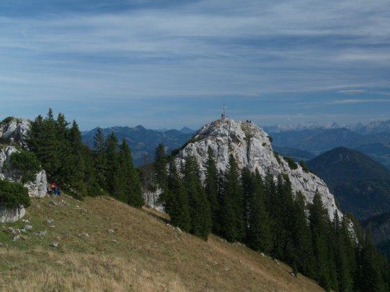 Bei Kletterern beliebt: Der Gipfelblock der Käserwand (auch Kasererwand)