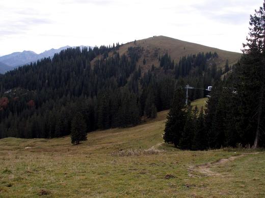 Der flache, grasige Gipfel des Roßkopfes.