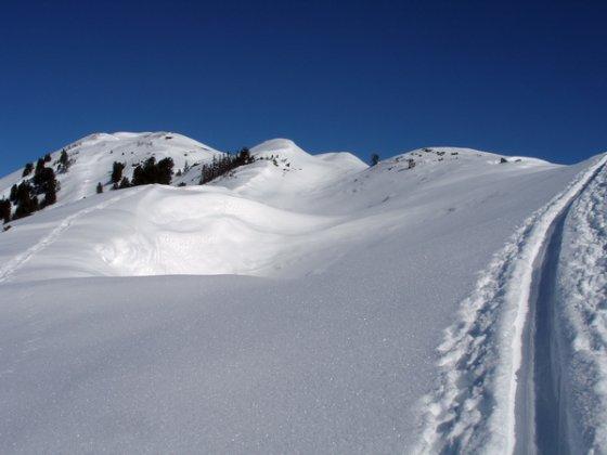 Auf dem Weg zur Wildkarspitze. Siehe auch unten das Panoramabild.
