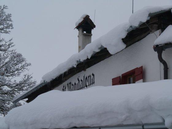 Die Jausenstation St. Margarethen ist das Ziel dieser (Winter-)Wanderung.