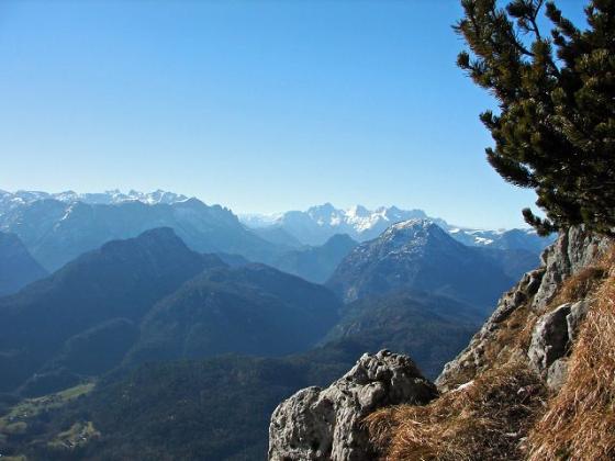 Ausblick aufs Müllnerhorn und aufs Ristfeuchthorn