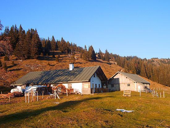 Die Hofbauernalm: nicht der höchste, aber der am schwersten zu erreichende Punkt der Tour