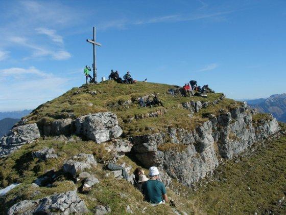 Der Gipfel des Schafreuter ist immer gut besucht.