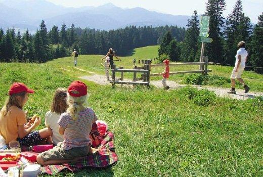 Auf den weiten Bergwiesen lässt es sich gut Picknicken.Foto: Copyright Eduard und Sigrid Soeffker