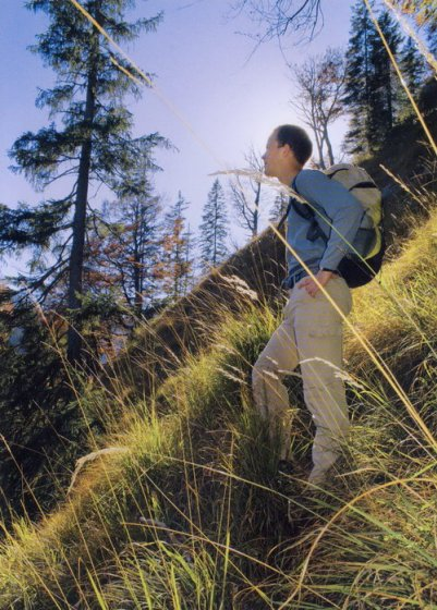 Typisch für die «Vergessenen Pfade»: steile Pfade, hohes Gras.