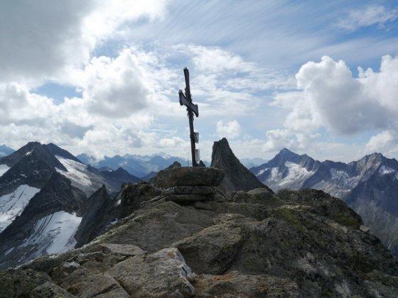 Am Gipfel der Richterspitze