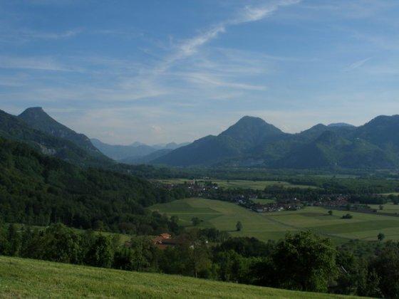 Von der Dandlbergalm gibt es einen wunderschönen Blick in das Inntal.