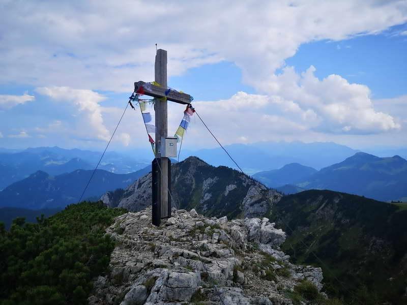 Das Gipfelkreuz der Soinwand