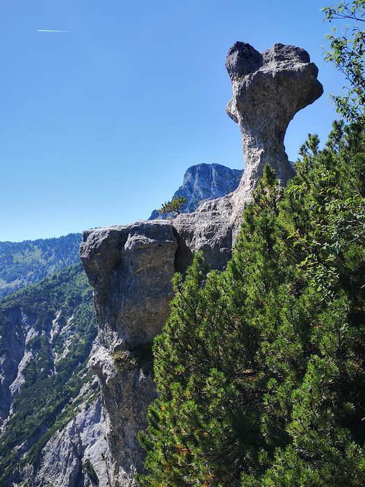 """Das Naturdenkmal """"Steinerne Agnes"""" ist das Ziel dieser Wanderung"""