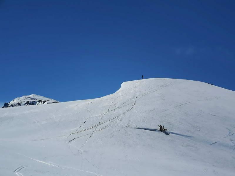 Der sanfte Gipfel des Kleinen Gamsstein.