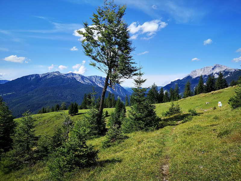 Der Ameiskogel, kein Gipfel im herkömmlichen Sinn, hier mit Unnütz und Guffert