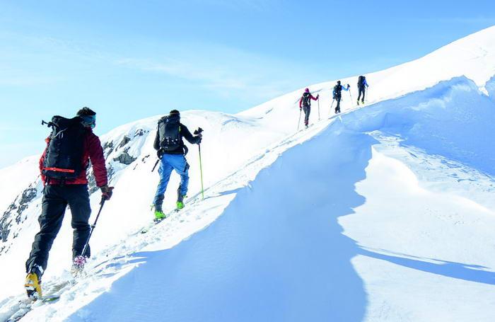 Aufstieg entlang des Südostrückens Richtung Kahlersberg-Gipfel