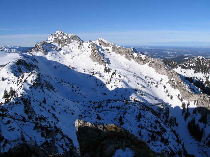 Gipfelblick hinüber zum Wendelstein